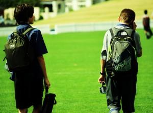 Teenagers skip class