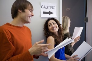 Students at casting call