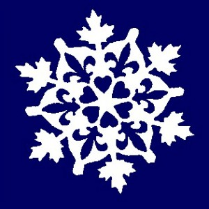 A December snowflake