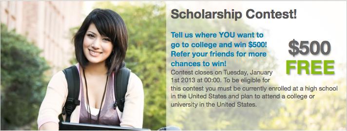 college scholarship contest