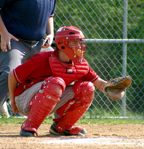 high school baseball catcher